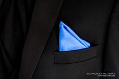 mariage-veston-mouchoir-bleu