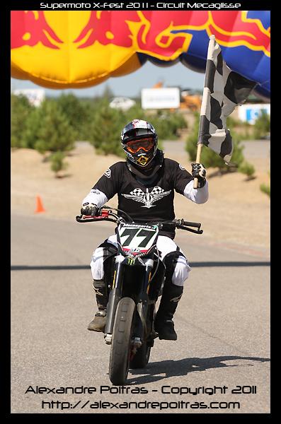 Supermoto X-Fest 2011 - Maxime Sylvestre - Champion